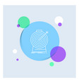 aim focus goal target targeting white line icon vector image vector image