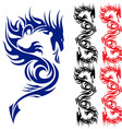 asian tattoo dragon vector image vector image