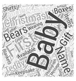 baby christmas gift Word Cloud Concept vector image vector image