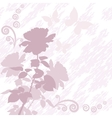 Background with flower rose and butterflies vector image vector image