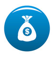 bag money icon blue vector image