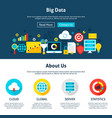 big data website design vector image vector image