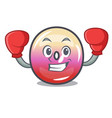 boxing jelly ring candy character cartoon vector image