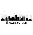 brazzaville republic of congo city skyline vector image vector image