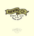 brewing logo bub emblem ribbon letters craft beer vector image vector image