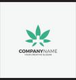 business logo cannabis hospital vector image