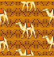 camels oriental decorative motifs seamless vector image