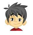 cartoon funny boy head vector image vector image
