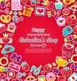 Celebration Postcard for Valentine Day vector image vector image