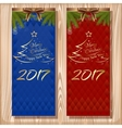Christmas design set Merry Christmas and Happy vector image vector image