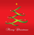 Christmas Tree Ribbon vector image