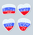 collection of minimalist stickers with russia and vector image vector image