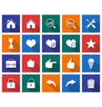 collection of square icons user interface set 2 vector image vector image