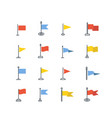 color icon set flags simple vector image