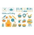 Cooking utensils set vector image vector image