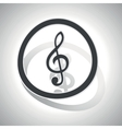 Curved music sign icon vector image