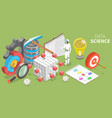 data science 3d isometric flat conceptual vector image