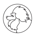 Dog head in a linear style vector image vector image