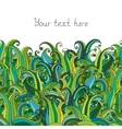 Doodle grass seamless border pattern May be used vector image vector image