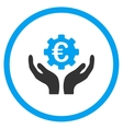 Euro Maintenance Rounded Icon vector image vector image