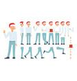 flat business man celebration creation set vector image