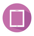 flat tablet icon tablet icon tablet symbo vector image vector image