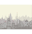 Foggy city skyline vector image vector image