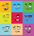 funny avatars emoji flat set vector image