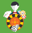 Gambler Casino icons set vector image