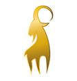 goat animal symbol vector image vector image