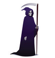 grim reaper holding scythe death character in vector image