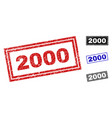 grunge 2000 scratched rectangle watermarks vector image vector image