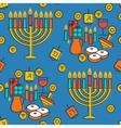 Hanukkah seamless pattern Hanukkah simbols vector image vector image