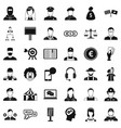 human icons set simple style vector image vector image
