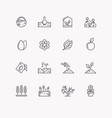 line icons for gardening vector image