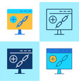 link building icon set in flat and line style vector image vector image