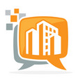 logo icon for digital media vector image