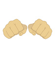 Male clenched fists vector image