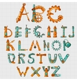 Mechanic Alphabet Colored vector image vector image