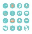 Medicine and pregnancy line icons set vector image