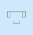 Men Swimming Trunks vector image