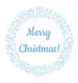 merry christmas in snowflakes winter wreath vector image