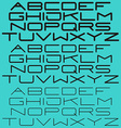 Modern simple font sans-serif light and bold type vector image vector image