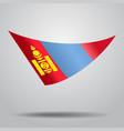 mongolian flag background vector image vector image