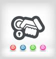 open handle icon vector image