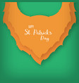 origami of the beard of leprechaun st patricks vector image vector image