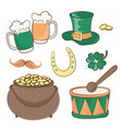 patrick beer saint patrick day cartoon vector image
