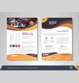 presentation flyer vector image vector image