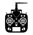 remote control rc transmitter black icon vector image vector image