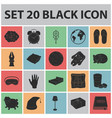 rest and sleep black icons in set collection for vector image vector image